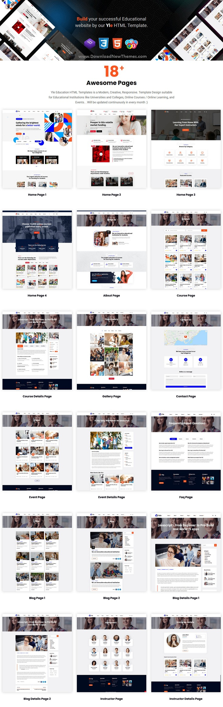 Education and LMS HTML Template