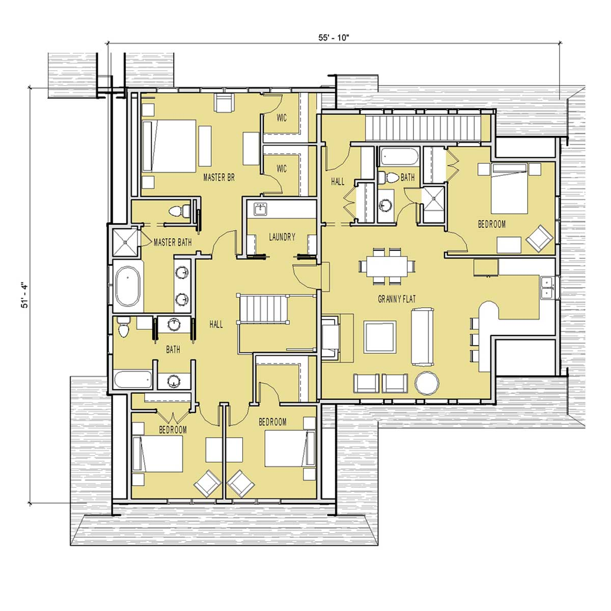 2 Bedroom 2 Bathroom Apartment Plans