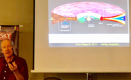 Dr. John Bally explains physics of stellar light curves at 37th annual SAS symposium (Source: Palmia Observatory)