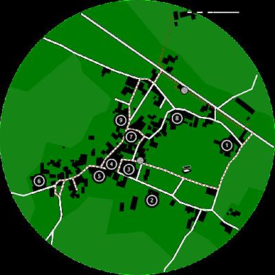Map of Collonges-la-Rouge.
