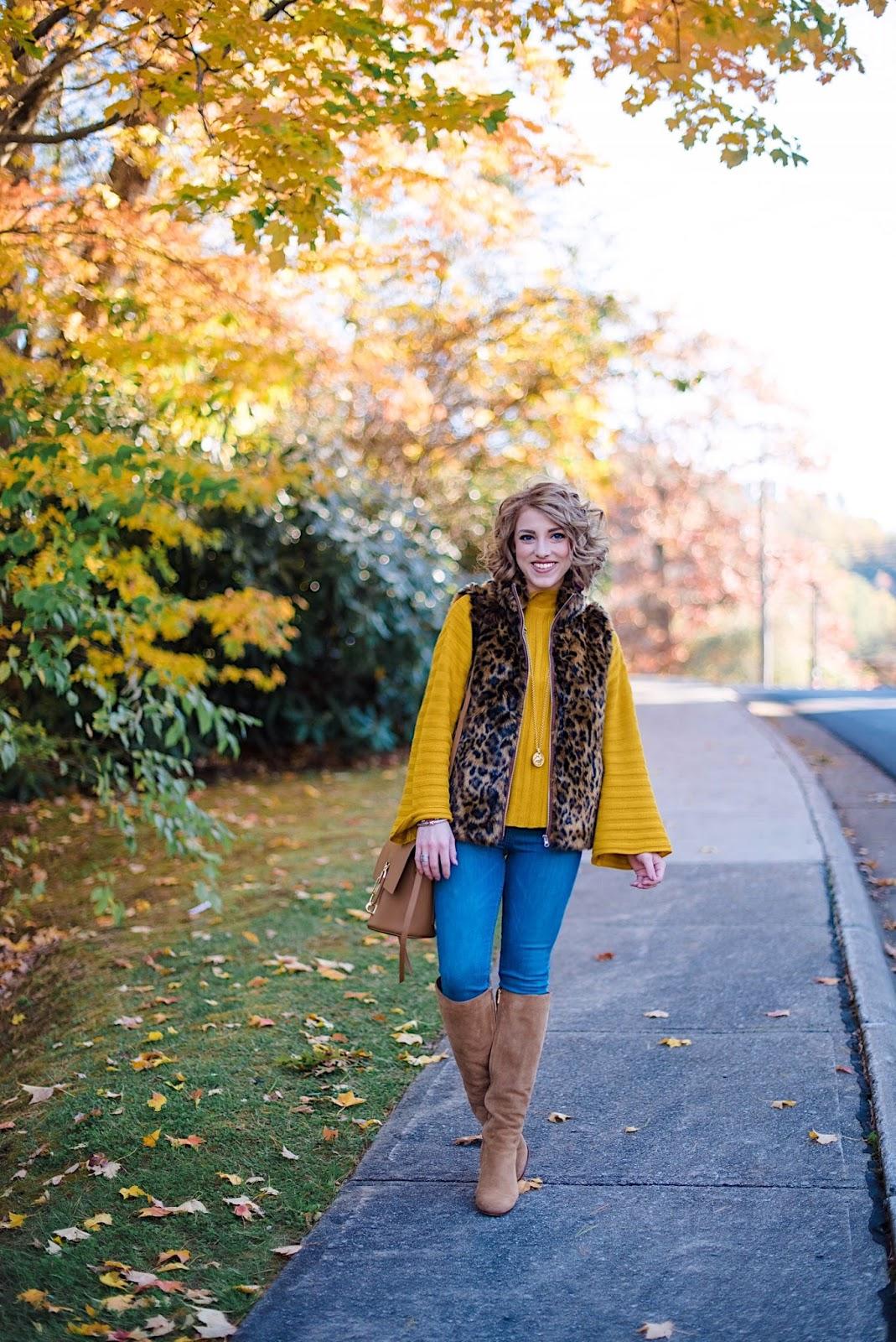 Mustard Yellow & Faux Fur - Something Delightful Blog
