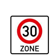 Начало зоны скорости 30 км/ч