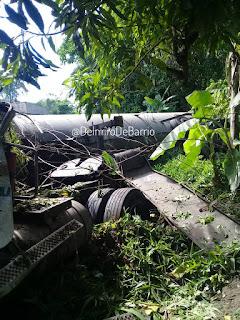Accidente de tráfico donde se ve involucrada Gandola de Gas Drácula en Carabobo (+FOTOS)