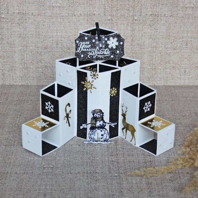 Stampin Up Layered Cube Card