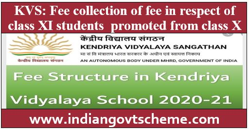 Fee collection of kvs