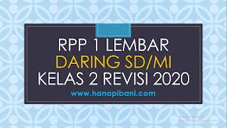 RPP 1 Lembar Daring SD/MI Kelas 2 Revisi 2020