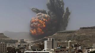 Allahu Akbar! Koalisi Pimpinan Saudi Serang Gudang Penyimpanan Drone Syiah Houtsi