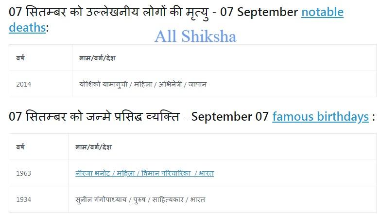 History of 07 September,