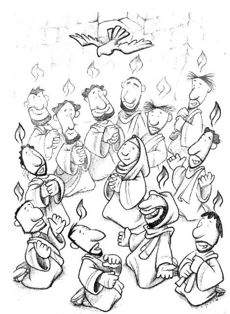 pentecost coloring pages for preschoolers - photo#5