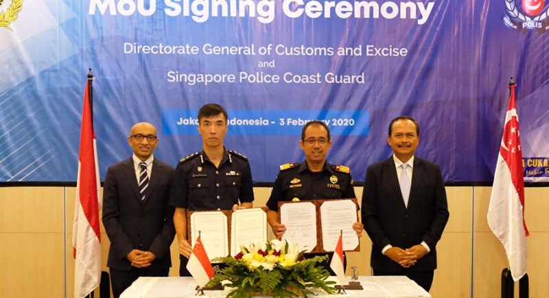 Cegah Penyelundupan, Bea Cukai Indonesia dan Singapore Police Coast Guard, Jaga Perbatasan Laut