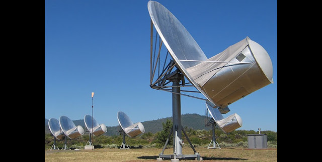 SETI Institute's Allen Telescope Array, located in the Cascade Mountains of northern California. Credit: SETI