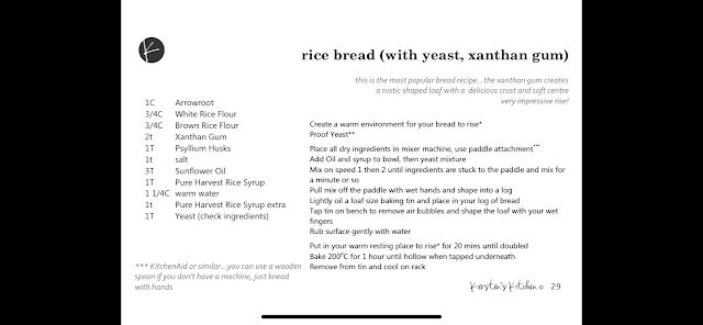 Xanthan gum bread recipe (traditional method)