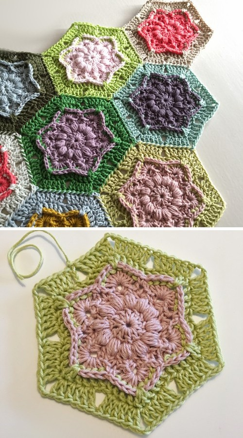 Wind Flower Hexagon - Free Pattern