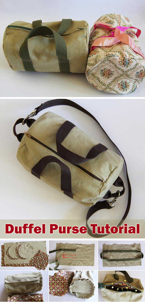 Duffel Purse Bag Sew Tutorial