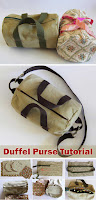 Duffel Purse Bag Sew Tutorial