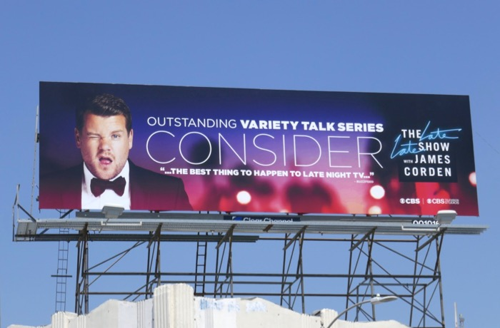 Consider James Corden Emmy 2019 billboard