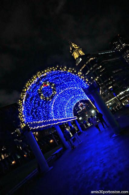 Luces de Navidad del Parque de Cristóbal Colón en Boston