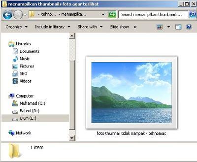 solusi thumbnails file foto agar terlihat gambarnya sebelum diklik tehnomac