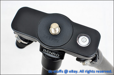 Benro C2182T Carbon Flat Traveler Tripod top mount disk