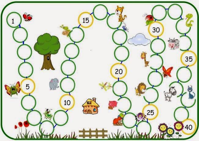 suite numérique de 1 à 40 collier des nombres