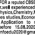CBSE School in Perambur wanted well experienced PGTs immediately