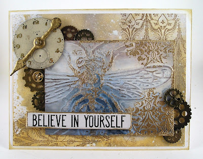 Stampers Anonymous Fragments  Idea-Ology Gears Sizzix Bumblebee For the Funkie Junkie Boutique