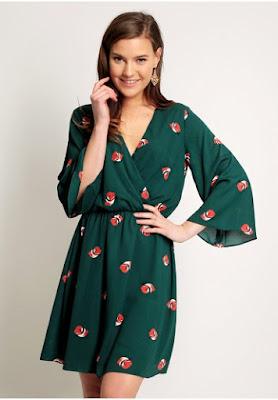 vestidos estampados verde