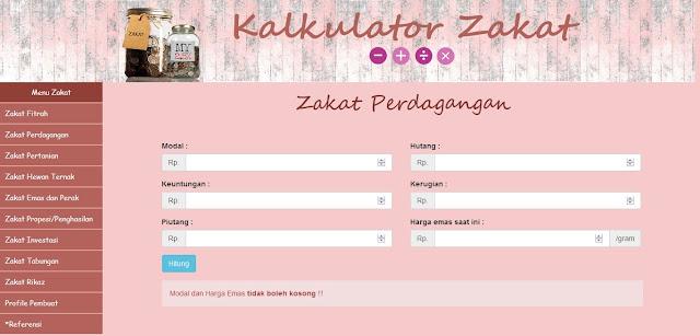 Source Code PHP Kalkulator Zakat Perdagangan
