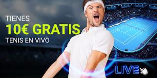 Luckia Con el tenis en vivo 10€ gratis hasta 19 enero 2020