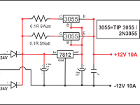 Rangkaian Penguat Arus Power Supply 10A, 15A, 20A, 30A