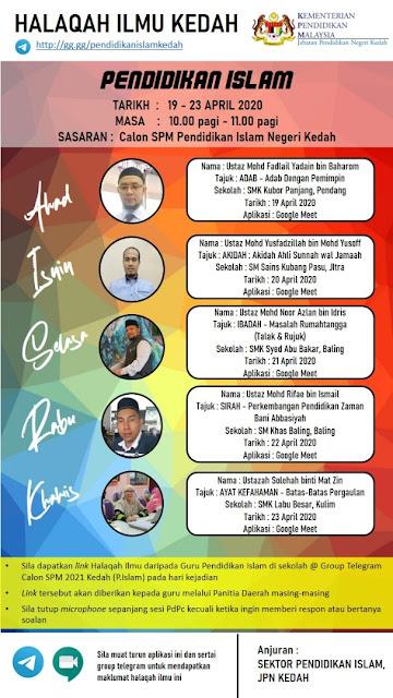 Halaqah Ilmu KEDAH 2020 Masa Musim PKP - SPI Kedah Mendahului
