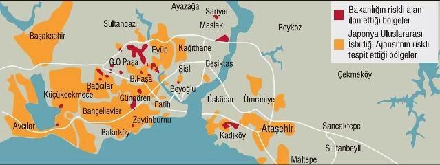 Japonların deprem haritası Bakanlığın haritasıyla uyuşmuyor