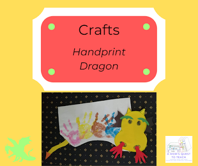 handprint dragon craft