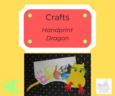 handprint dragon craft