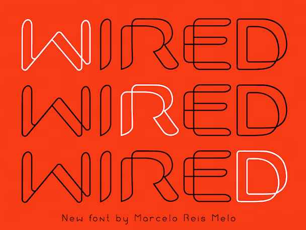 FREE FONT WIRED