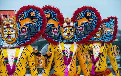 Bagh Nritya (Tiger dance) performers from Orissa