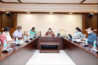 जनजातीय कार्य मंत्री सुश्री मीना सिंह ने बैठक में दिये निर्देश