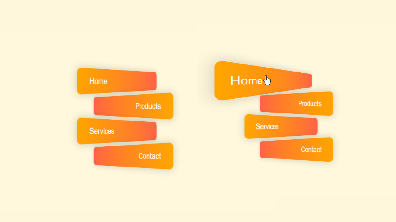 3D Button Hover Animation using CSS and HTML