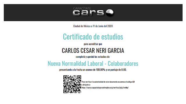 Certificación Nueva Normalidad Laboral