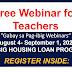 Free Webinar for Teachers