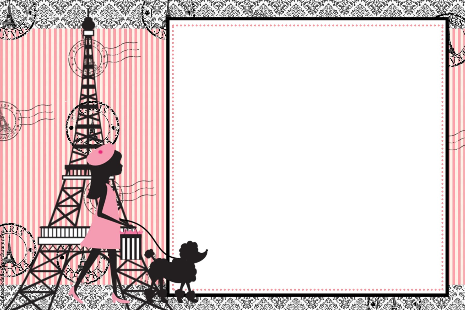 Beautiful Paris Free Party Printables Oh My Fiesta For