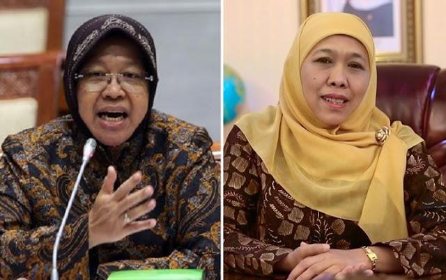 Risma Minta PSBB Surabaya Dihentikan, Ini Jawaban Khofifah
