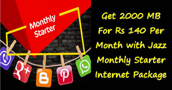Moblink Jazz 2GB Internet for Rs. 140 per month