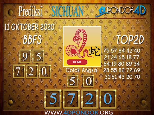 Prediksi Togel SICHUAN PONDOK4D 11 OKTOBER 2020
