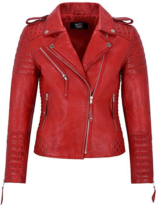 giacca-biker-rossa