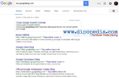 Ilustrasi Google Memperkuat Blognya Dengan Berpindah Domain - Dipopedia