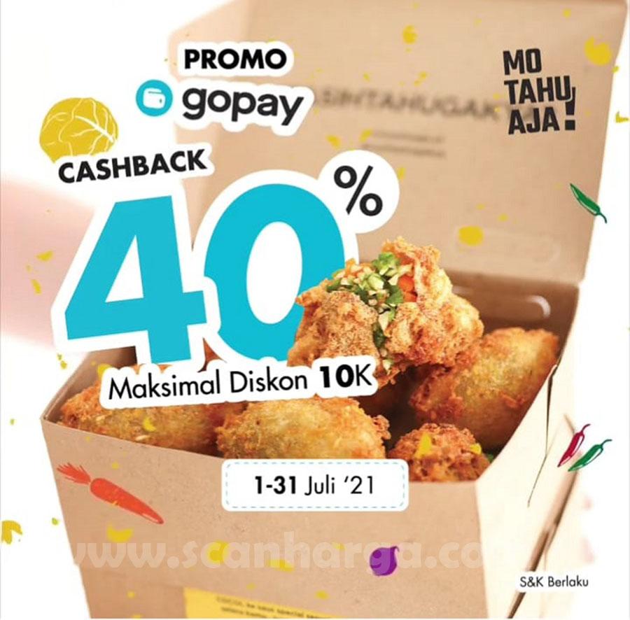 MO TAHU AJA Promo GOPAY Cashback hingga 40%