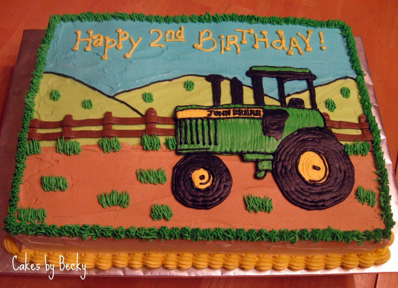 Cakes by Becky John Deere Birthday