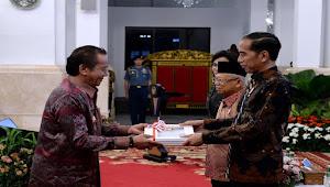 Gubernur Longki Djanggola Terima DIPA dan Alokasi Transfer Daerah Tahun 2020 dari Presiden Jokowi