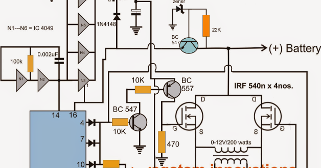 Inverter Circuit Using 4 Nchannel Mosfets Circuit Diagram Centre